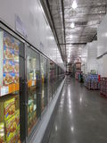 Coolers in a super market. Row of coolers to keep products cool in a super market royalty free stock images