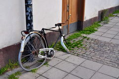 The coolest bycicle. The old bycicle caught on the streets of Stockholm Stock Photo