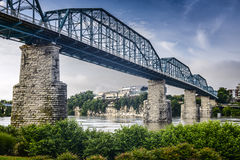 Coolidge Park and Walnut Street Bridge Royalty Free Stock Photo