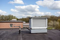 Cooling air conditioning. On an flat roof there cooling air conditioning Stock Images