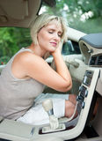 Cooling in the car Royalty Free Stock Images