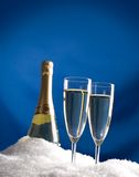 Cooling champagne Royalty Free Stock Images