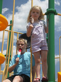 Cooling down st the playground Royalty Free Stock Images