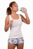 Cooling down after workout Royalty Free Stock Image