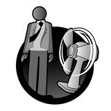Cooling with fan Royalty Free Stock Photo