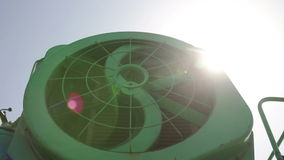 Cooling fan of combine stock footage