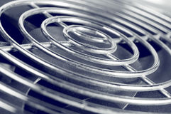 Cooling fan grill closeup photo Stock Photos