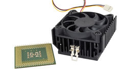 The cooling fan with heatsink and CP Royalty Free Stock Image