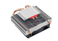 Cooling fan with heatsink Royalty Free Stock Images