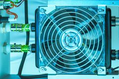 Cooling fan inside Stock Image
