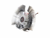 Cooling fan for the video card Royalty Free Stock Images