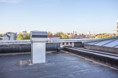 Cooling on a flat roof Royalty Free Stock Photo
