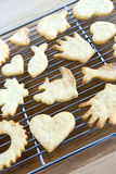 Cooling freshly baked cookies Royalty Free Stock Photography