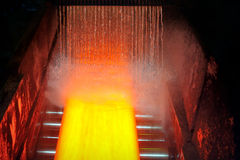 Cooling hot steel plate Stock Images