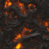 Cooling Lava Stock Photo