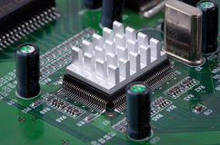 Cooling microchip Stock Image