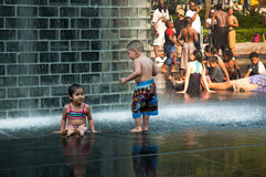 Cooling off in the city Royalty Free Stock Photos