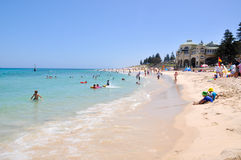 Cooling off at Cottesloe Beach Stock Photos