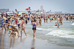 Cooling Off Jersey Shore Royalty Free Stock Images