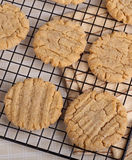 Cooling Peanut Butter Cookies Stock Photos