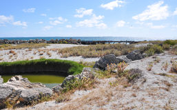 Cooling Pond: Behind the Breakwater Stock Photos