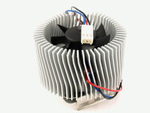 Cooling radiator for chip Stock Image