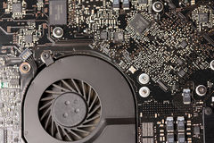 Cooling system of a circuit board Royalty Free Stock Image