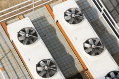 Cooling system for ventilation and air conditioning. Royalty Free Stock Photo