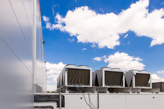 Cooling system warehouse Royalty Free Stock Images
