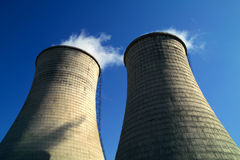 Cooling tower. Of power station Stock Photos