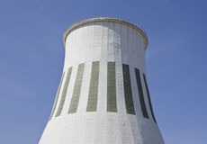 Cooling Tower. Thermal power station's cooling tower on blue sky background Royalty Free Stock Photos