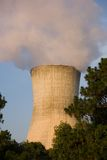 Cooling Tower 2. Cooling Tower with Smoke Billowing Out royalty free stock image