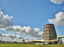 Cooling tower. Of electric power plant royalty free stock photos