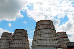 Cooling tower. Of thermal power plant Stock Photography
