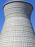 Cooling tower. Power water cooling tower on heat station Stock Photography