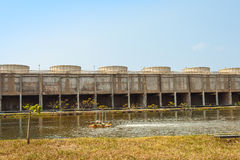 The cooling tower of Bangpakong Electric plant Royalty Free Stock Photo