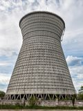Cooling tower of the cogeneration plant in Kyiv, Ukraine Stock Photos