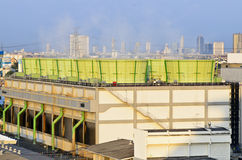The cooling tower of combined-cycle power plant Royalty Free Stock Image