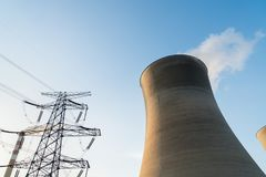 Cooling tower at dusk Royalty Free Stock Images