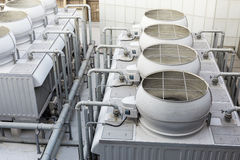 Cooling tower inside the building Royalty Free Stock Photo
