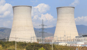 Cooling tower of nuclear plant in asia Royalty Free Stock Images