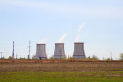 Cooling tower of nuclear power plant Stock Photo