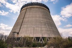 Free Cooling Tower Of The Fifth Power Chernobyl Royalty Free Stock Photos - 179393448