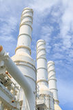 Cooling tower of oil and gas plant, hot gas from the process was cooling as the process Royalty Free Stock Photos