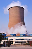Cooling tower of the power plant. Royalty Free Stock Photo