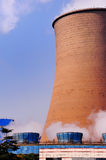Cooling tower of the power plant Stock Photos