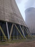 Cooling tower in a power station Stock Photo