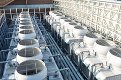 Cooling tower at roof top Royalty Free Stock Images