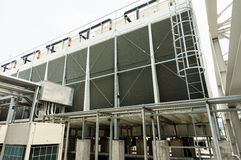 Cooling tower at roof top, air conditioning systems building Stock Images