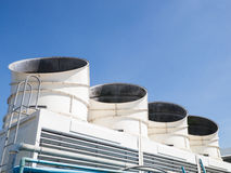 Cooling tower. Set of cooling tower on clear sky Royalty Free Stock Image